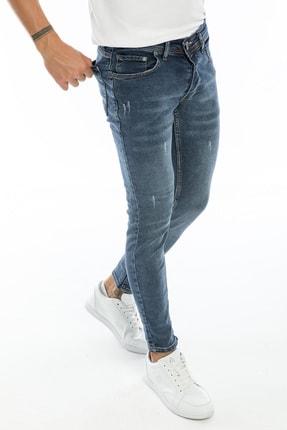 Dr Dnm Remix Erkek Jeans Skinny Fit Likralı Mavi Tintli Tırnaklı