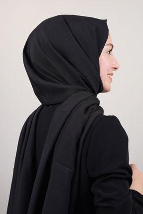 Modakaşmir Moda Kaşmir Düz Renk Modal Caz Şal - Siyah