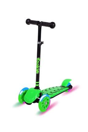 Rookie Trendy Işıklı 3 Tekerlekli Scooter Yeşil