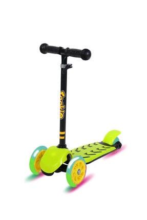 Rookie Trendy Işıklı 3 Tekerlekli Scooter Sarı