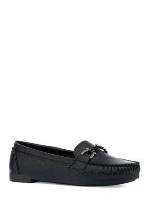 İnci Nally.z 1pr Siyah Kadın Loafer Ayakkabı