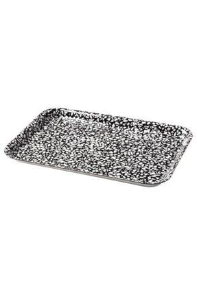 IKEA Sunumluk Mini Tepsi Meridyendukkan 20x28 Cm Siyah-beyaz Melamin Laminat