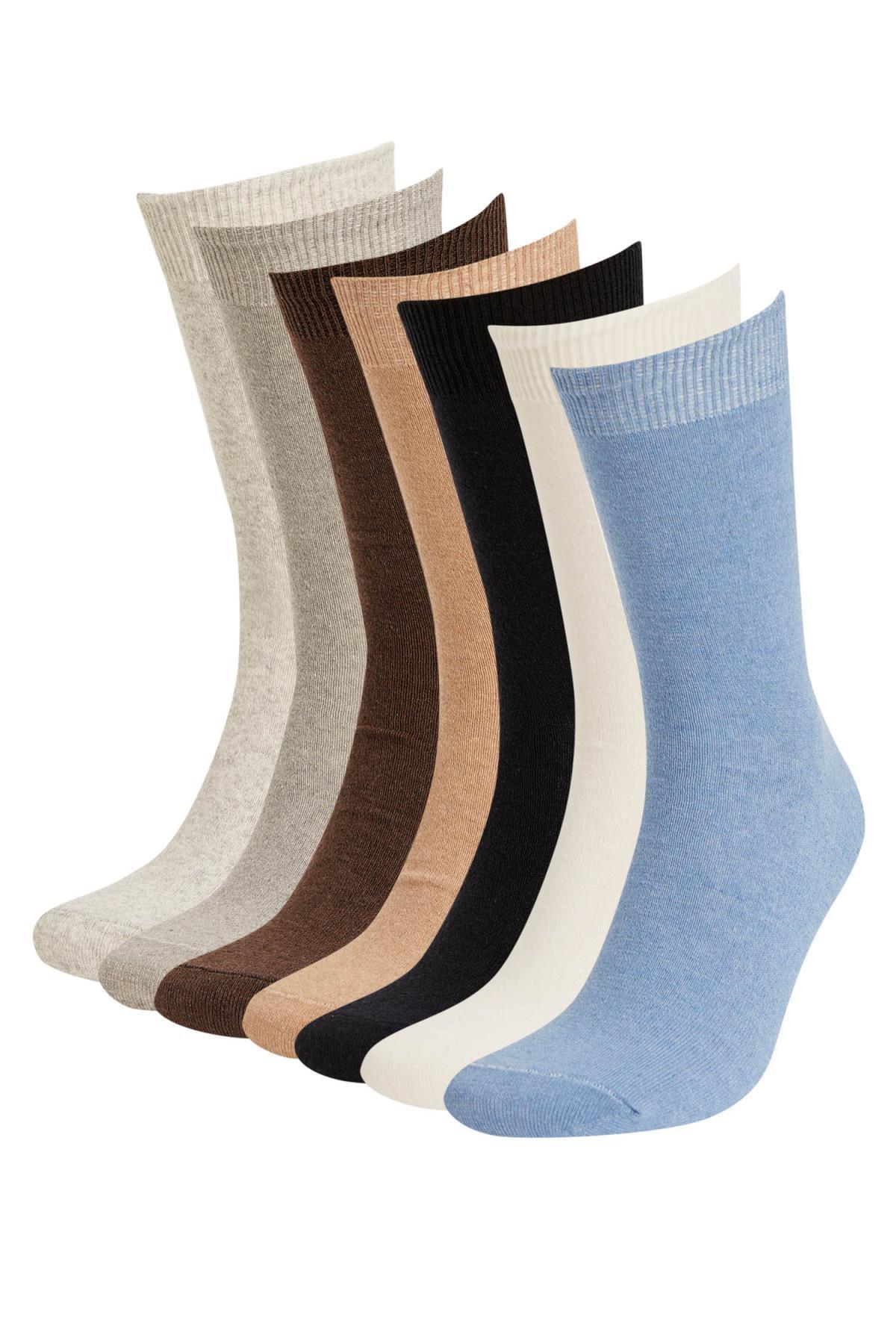 DeFacto Erkek Çok Renkli 7'Li Soket Çorap V4940AZ21AUKR