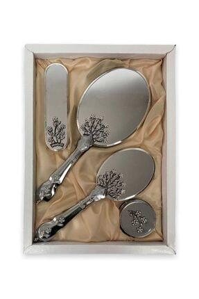 LOVELA 500'lü Hayat Ağacı Krom Ayna Tarak Seti
