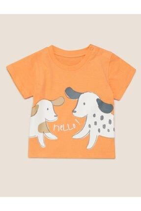 Marks & Spencer Organik Pamuklu Köpek Baskılı T-shirt