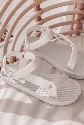 I Love Shoes Cırt Cırt Detaylı Ekstra Hafif Sandalet Beyaz