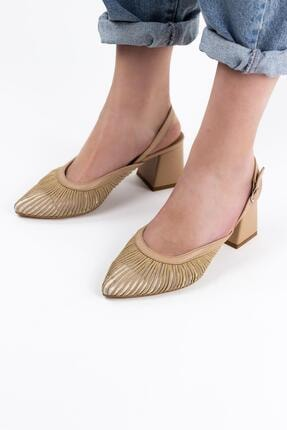 Gökhan Talay Biyeli Tüllü Kadın Kısa Topuklu Ayakkabı