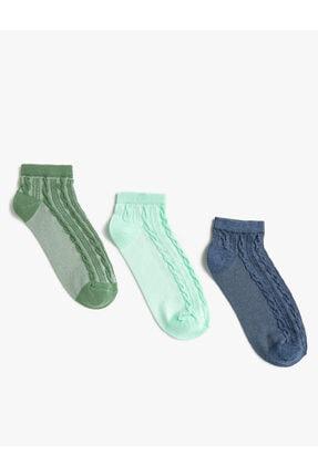 Koton Kadin Örme Desenli Patik Çorap Seti 3'lü
