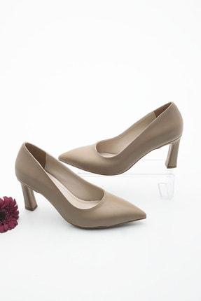 Marjin Kadın Vizon Stiletto Topuklu Ayakkabı Akuna