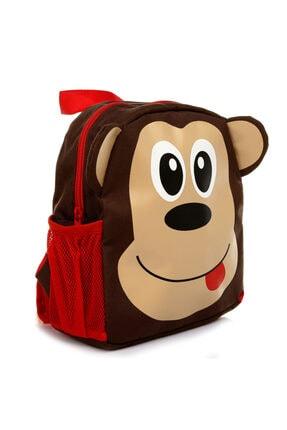 HelloBaby Bebek Maymun Figürlü 3d Çanta Kahverengi