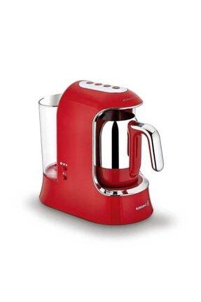 KORKMAZ Kahvekolik Aqua Kırmızı/krom Otomatik Kahve Makinesi A862