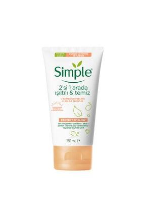 Simple Protect And Glow Temizleme Jeli 2si 1 Arada 150 ml
