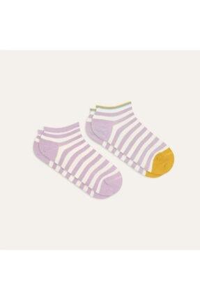 Mudo Kadın Ikili Çizgili Çorap