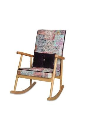 Asedia Trend Naturel-otantik Döşemeli Sallanan Sandalye