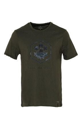 lumberjack M-1839 Twiggy Kk Tshırt Haki Erkek T-shirt