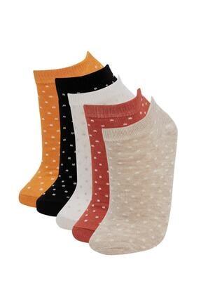 DeFacto Desenli Patik Çorap 5'li