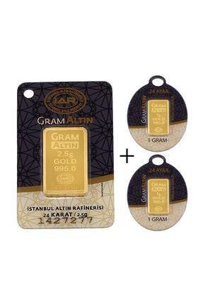 Tuğrul Kuyumculuk 4,5 Gram (2,5+2) Külçe Gram Altın IAR 24 Ayar K0004-5