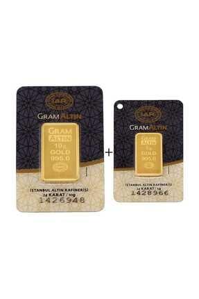 Tuğrul Kuyumculuk 15 Gram (10+5) Külçe Gram Altın IAR 24 Ayar K000015