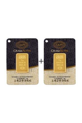 Tuğrul Kuyumculuk 10 Gram (5+5) Külçe Gram Altın IAR 24 Ayar K00055