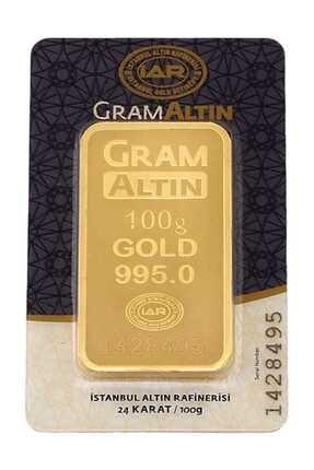 Tuğrul Kuyumculuk 100 Gram Külçe Gram Altın 24 Ayar K000100