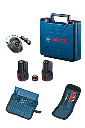 Bosch Gsb 120 Li Darbeli Akülü Delme & Vidalama Makinesi + 23 Parça Vidalama Seti