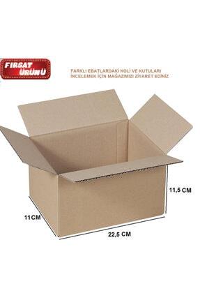 Kolini Seç 22,5x11x11,5cm Çift Oluklu E Ticaret Kutusu Karton Taşıma Taşınma Kolisi 0,9 Desi