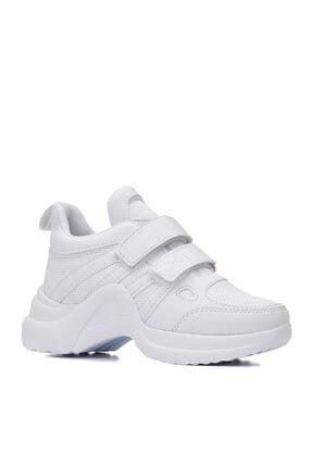yiğit aksesuar Kız Çocuk Günlük Spor Ayakkabı Sneaker Yeni Sezon Bağcıksız Cırtlı