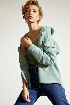 DeFacto Kadın  Cep Detaylı Gömlek Tunik