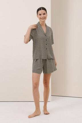 Gusto Kadın Mint Şortlu Pijama Takımı