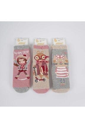 Artı Banun 3'lü Kız Havlu Soket Çorap