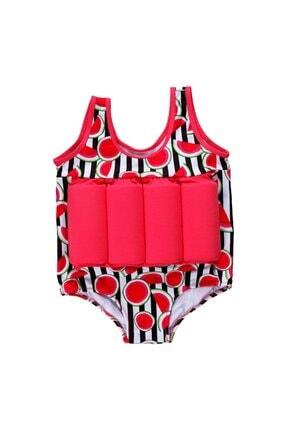 Baby Swim Up Kız Çocuk Karpuz Desenli Yüzme Öğreten Çocuk Mayosu