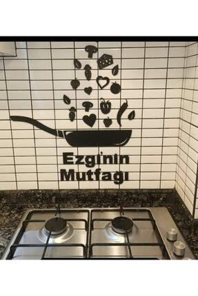 DENİZ LAZER Ahşap Siyah Mutfak Süsü Tava Duvar Dekoru