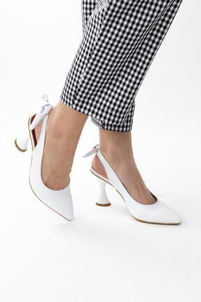 Gökhan Talay Docila Arkası Fiyonk Detaylı Kadın Topuklu Ayakkabı