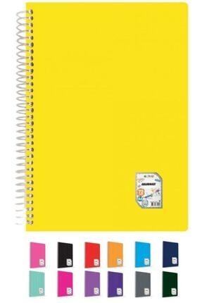 ÇINAR DEFTER Colormaxi A4 Spiralli Pp Kapaklı Çizgili Defter 72 Yaprak 73001