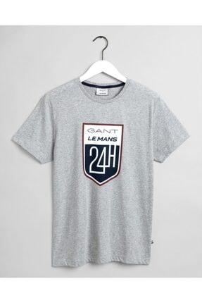 Gant Erkek Gri Regular Fit T-shirt