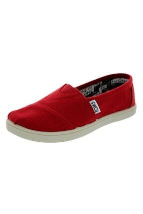 Toms Genç Kanvas Kırmızı Espadril 012001c13