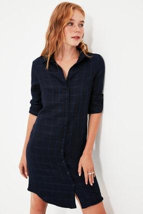 TRENDYOLMİLLA Lacivert Gömlek Elbise TWOAW21EL0052