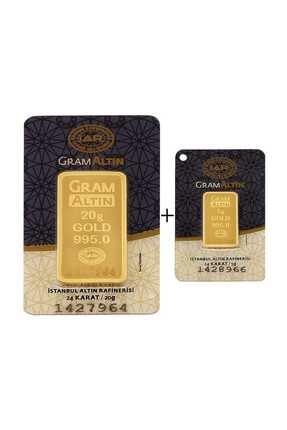 Tuğrul Kuyumculuk 25 Gram (20+5) Külçe Gram Altın  24 Ayar K0025