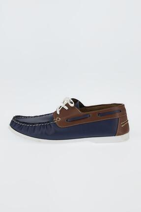 DeFacto Erkek Lacivert Suni Deri Bağcıklı Günlük Ayakkabı