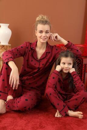 Siyah İnci Pamuklu Likralı Düğmeli Biyeli Pijama Takım