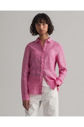 Gant Kadın Pembe Keten Gömlek