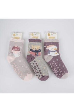 Artı Letit 3'lü Abs'li Kız Havlu Soket Çorap