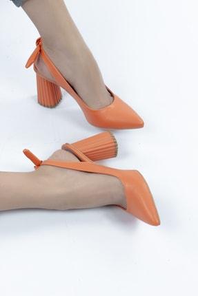 Gökhan Talay Aliana Kalın Ökçe Fiyonk Detaylı Kadın Topuklu Ayakkabı