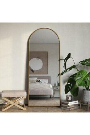 DEKOZEN Gold Metal Oval Ayaklı Boy Aynası 180x70 Cm