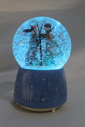 fishmeco Kış Masalı Otomatik Püskürtmeli Renkli Işıklı Müzikli Kar Küresi