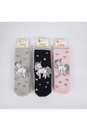 Artı Monddy 3'lü Kız Havlu Soket Çorap