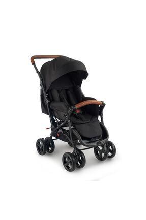Baby2Go 2024 Safe Çift Yönlü Bebek Arabası - Siyah