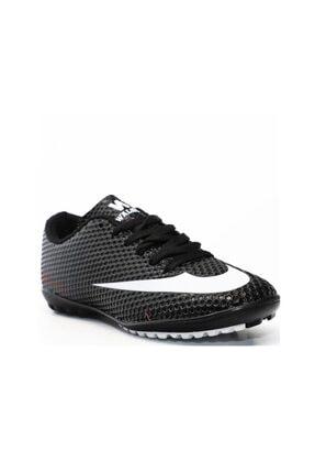 Walked 401 Erkek Halı Saha Ayakkabısı Siyah Beyaz