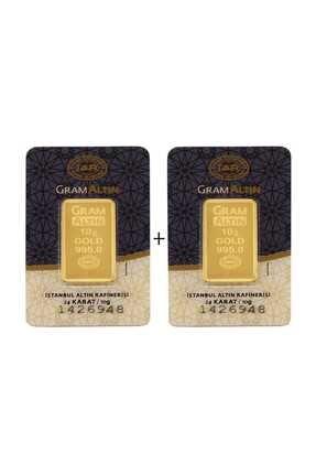 Tuğrul Kuyumculuk 20 Gram (10Gram+10Gram) Külçe Gram Altın IAR 24 Ayar S000020-2