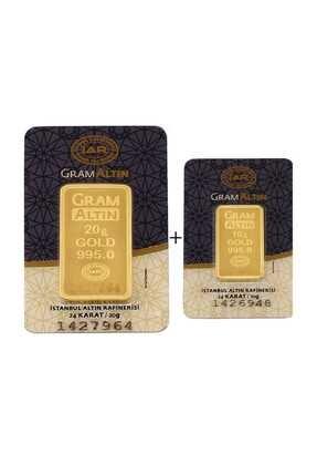Tuğrul Kuyumculuk 30 Gram (20+10) Külçe Gram Altın 24 Ayar K0000030